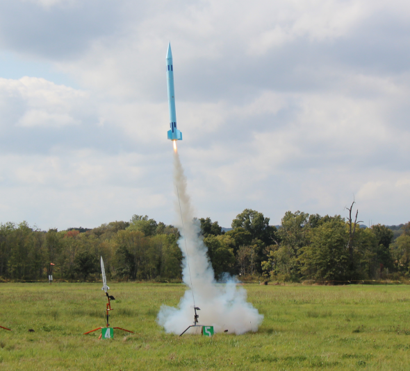 Scratch built foam rocket
